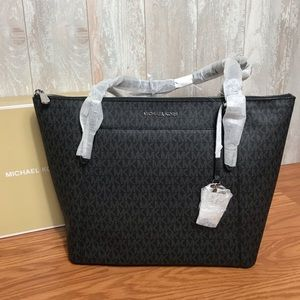 Michael Kors Ciara LG EW TZ Tote Black W AUTHENTIC
